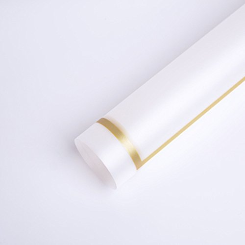 Translucent Waterproof Flower Wrapping Paper Florist Bouquet Packaging 20 Sheets 23.623.6 Inch (Gold)