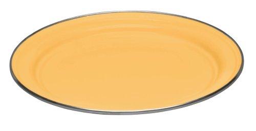 Cinsa 312048 Trend Ware Enamel on Steel Dinner Plate, 10-Inch, Vanilla Yellow