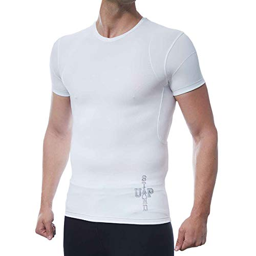 186d13ca904 DROPSKIP Men s Slimming Body Shaper Compression Shirt – Mens Undershirt  Shapeware Waist Trimmer