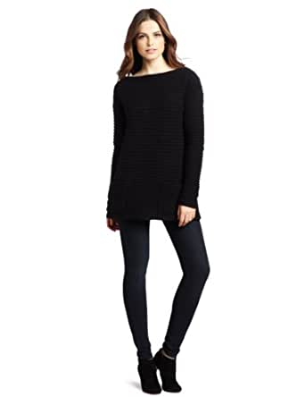 Tracy Reese Women's Boatneck Tunic Sweater, Black, Small
