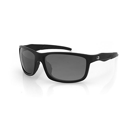Bobster Unisex-Adult Virtue Sunglass, Matte Blk, Anti-fog Smoked,Hydrophobic/oeliophobic coating (,) (Bobster Womens Motorcycle Sunglasses)