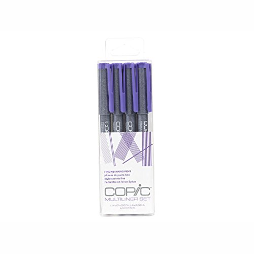 Copic Multiliner Lavender Ink Pens 4/pkg-