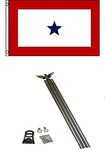 Moon 3x5 One Blue Star Son in Service Flag w 6 Ft Aluminum F