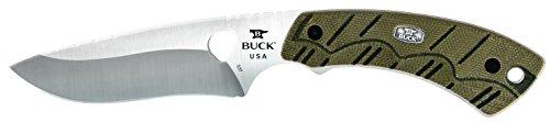 Buck Knives 0537ODS Open Season Skinner Pro Fixed Blade Knife with Sheath, OD (Pro Fixed Blade Knife)