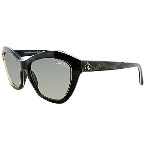 Roberto Cavalli Women's RC796S5705B Cateye Sunglasses,Black,57 ()