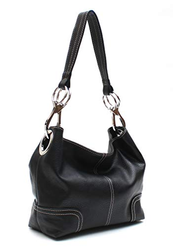 2645e34dc8 Galleon - Americana Bucket Style Hobo Shoulder Bag With Big Snap Hook  Hardware