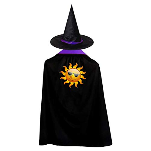 Cool Sun Kids' Witch Cape With Hat Cute Vampire Cloak For Halloween Cosplay Costume ()