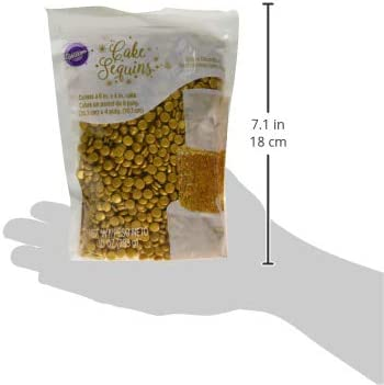 Wilton Gold Sequins Sprinkles, 283g (10oz)
