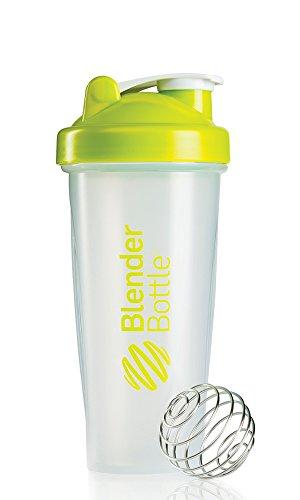 BlenderBottle Classic Shaker Bottle, Clear/Green, 28-Ounce