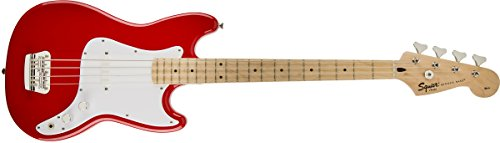 Squier by Fender 310902558 Bronco Bass, Torino Red (Scale Short Bass Neck)