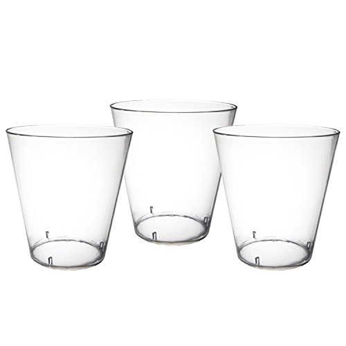Party Essentials Hard Plastic 2-Ounce Shot/Shooter Glasses, Clear, 200-Count, Clear