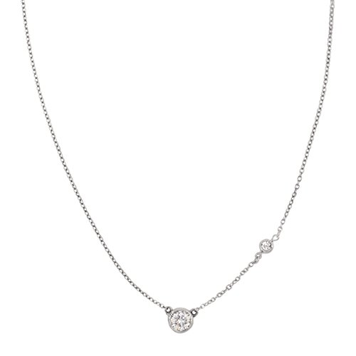 """Silpada 'Marvel' Circular Cubic Zirconia Station Necklace in Sterling Silver, 16"""" + 2"""" from Silpada"""