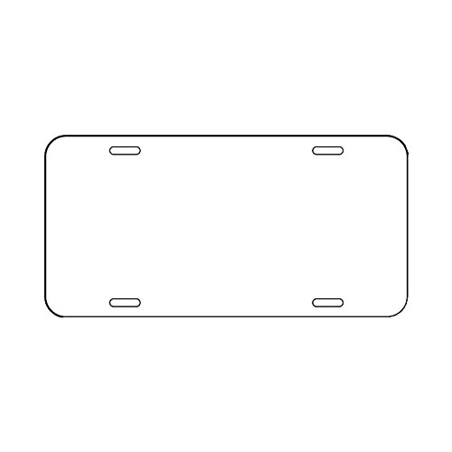 Aluminum Sublimation License Plate Blank 6x12