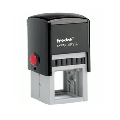 Square Customizable Self Inking Rubber Stamp from Cenveo - up to 3 lines - 1-3/16