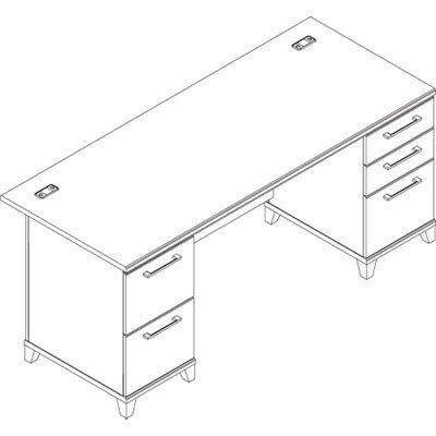 Bush Industries Double Ped. Desk, 72