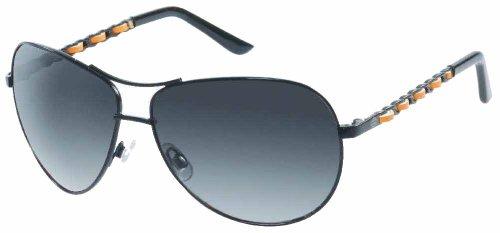Harley-Davidson Women's Lifestyle Metal Aviator Sunglasses Black ()