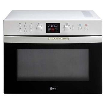 LG - Microondas Mc8088Hrc, 31L, 1000W, Grill, Plata, Reloj ...