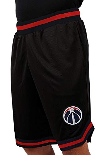 Ultra Game NBA Washington Wizards Men's Mesh Basketball Shorts Woven Active Basic, XX-Large, Black