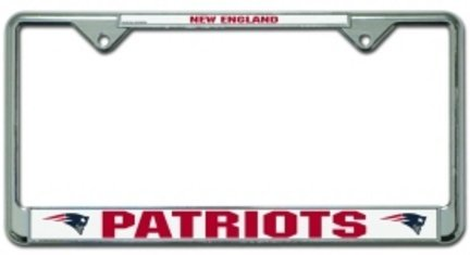 New England Patriots Chrome License Plate Holder