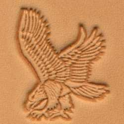 Tandy Leather 3D Eagle in Flight Left View Stamp 88369-00