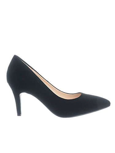 Super Coen Toe Sole Pointy Nubuck Comfort City Pump Foam Cushioned High h Memory Black Heel Classified Medium Inner 8Fxw5qpC