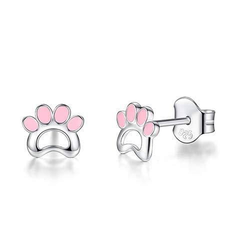 950 Sterling Silver Enamel Clover Ladybug Bee Stud Earrings for Women Girls Children Kids Fashion Jewelry