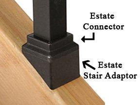 Deckorators Square Estate Stair Adaptors - Black (20 pack)