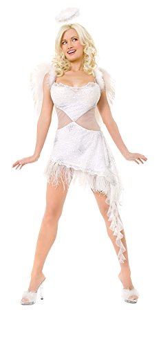 Playboy Hefs Angel Costume - X-Small - Dress Size 2-4]()