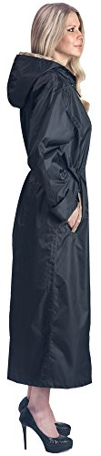 Cloudnine Umbrellas Shaynecoat Raincoat For Women Black and Gold (Medium) (Long Extra Coat)