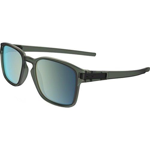 Oakley Mens Latch Squared Sunglasses, Matte Olive Ink/Emerald Iridium, One - Sunglasses Optical Oakley