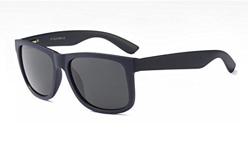 UV400 Sunglasses polarizadas TL Gafas de Hombres Sol TR90 Azul Mate blue Guía Negro con xdPXxZw