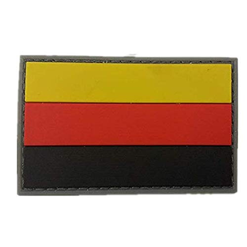MORTHOME Germany Flag Military PVC Patch Rubber Badges Patch Tactical Stickers for Clothes Back with Hook