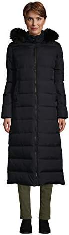 Lands' End Women's Winter Maxi Long Down Coat with Hood