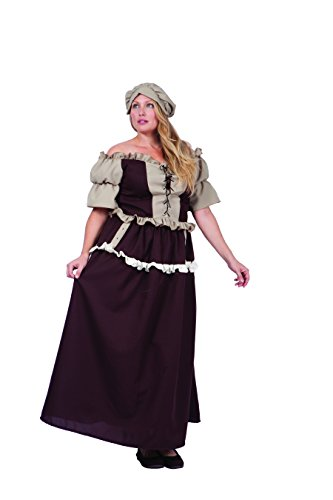 RG Costumes Women's Plus-Size Colonial Kathryn, Brown/Tan, X-Large