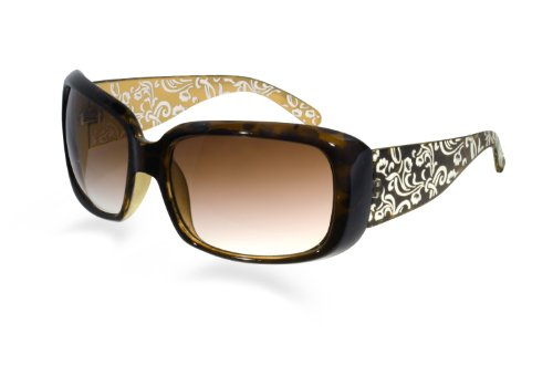 e70179b5c8 BluBlocker Tortoise Two Tone Etched Floral Sunglasses 60mm width lens