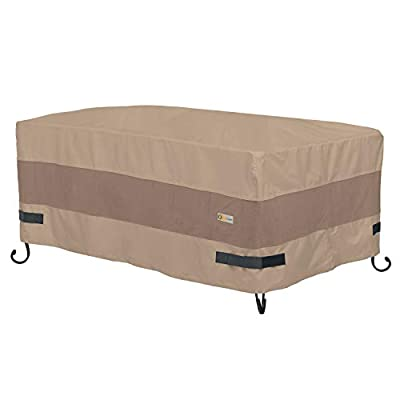 "Duck Covers Elegant Rectangular Fire Pit Cover, 56"" L x 38"" W x 24"" H"