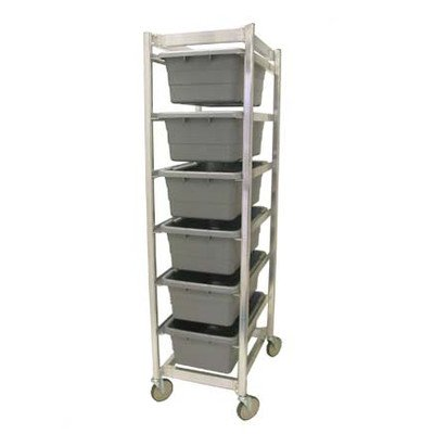 Prairie View Ind. Food Service LUGCT6KD Knock Down Lug Cart, 6 Capacity, 20'' Width x 70.5'' Height x 27'' Length by Prairie View Ind. Food Service