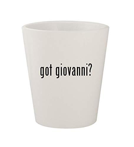 got giovanni? - Ceramic White 1.5oz Shot -