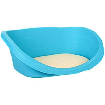 Favorite Indoor Outdoor Easy Clean All Year Plastic Pet Bed with Soft Pad
