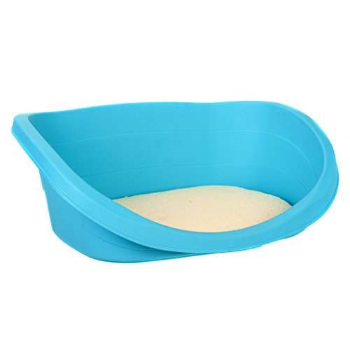 plastic pet bed with soft pad