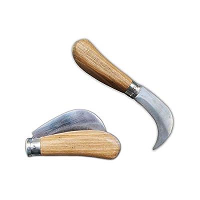 Folding Hawkbill Pocket Knife, Grafting Pruning Budding Curved Blade - Mushroom Harvesting Orchards, for Gardeners or Campers, Carbon Steel, Walnut Handle : Garden & Outdoor