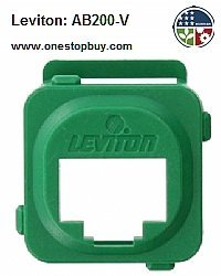 Leviton AB200-V QuickPort Adapter Bezel for Clipsal Opening - Green