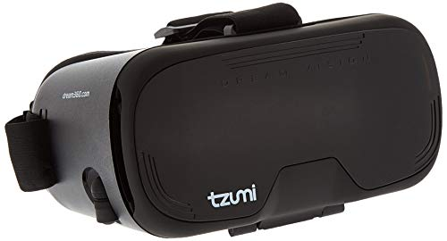 Tzumi Dream Vision VR Smartphone Headset - Adult Unisex Bluetooth Compatible Virtual Reality Headset - Includes Remote Controller and Retractable Earbuds for Enhanced Immersive Gameplay]()