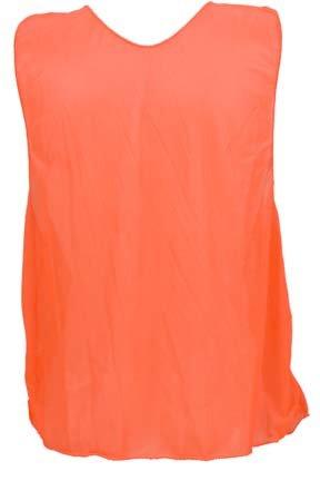 Micro Mesh Team Vest Numbered - Adult Numbered Micro Mesh Team Practice Vests (Fluorescent Orange) - 1 Dozen