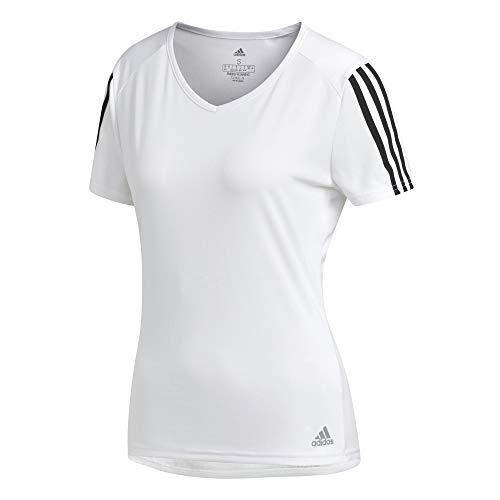 3s Donna Adidas White black shirt W T Run Tee g5Rf6