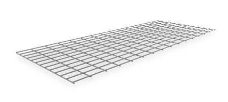 Decking, Galv Wire, 60in, 24in, 500 lb. Cap