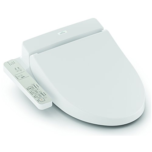TOTO Washlet A100 Elongated Bidet Toilet Seat, Cotton White - - Seat Toto