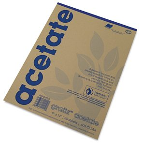 (Grafix 14 x 17 Inches Biodegradable Clear Acetate 25 Sheets - 5CL1417 )