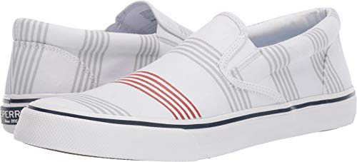 Sperry Top-Sider Striper II Slip On Oxford Shirt Sneaker Men 8 Stripe
