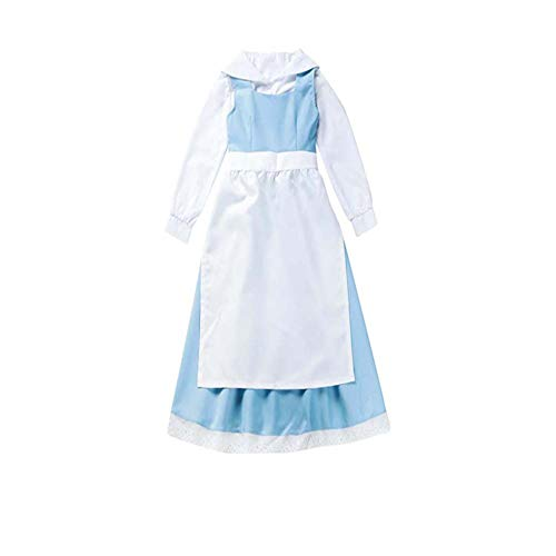 Cos store Womens Halloween Beauty and The Beast Belle Maid Lolita Dress Anime Party School Uniform Cosplay Costumes (S) -